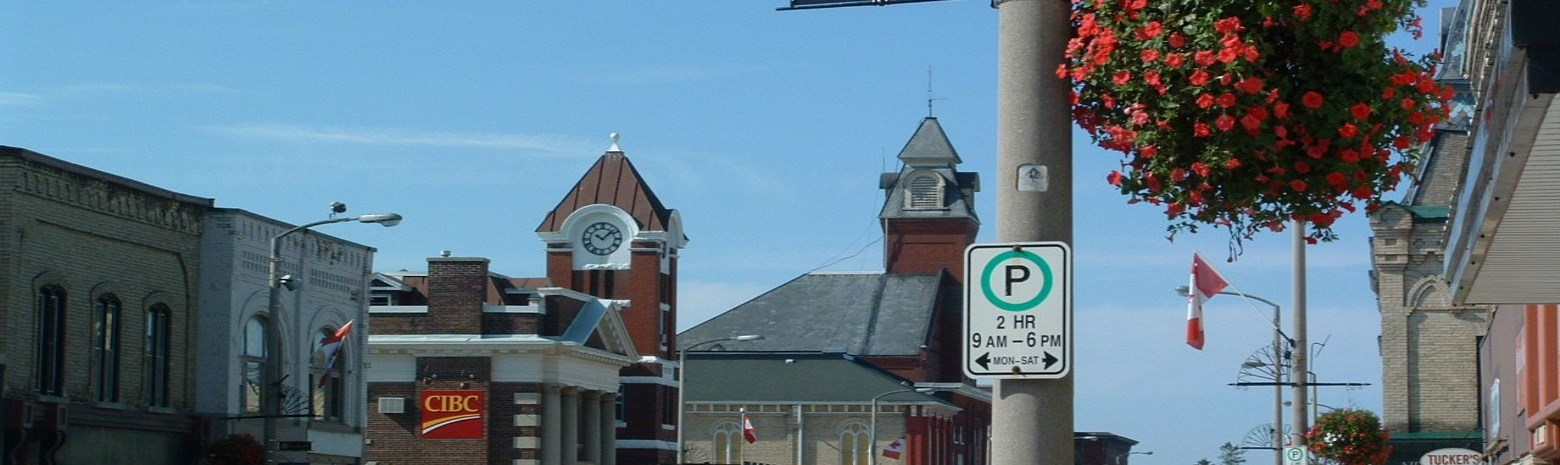 Seaforth Parking sign on Main Street
